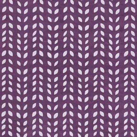 Papier népalais Grains de blé violet