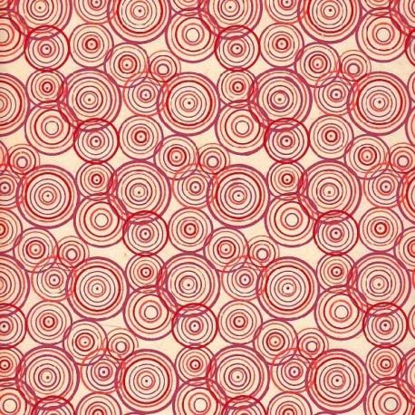 Papier népalais Psychédélique rouge