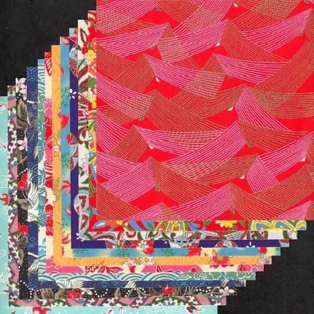 Kit Yuzen 12 papiers Origami