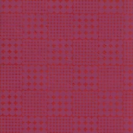 Papier népalais Échiquier rouge