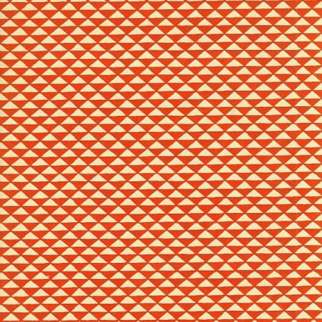 Papier japonais Triangles orange