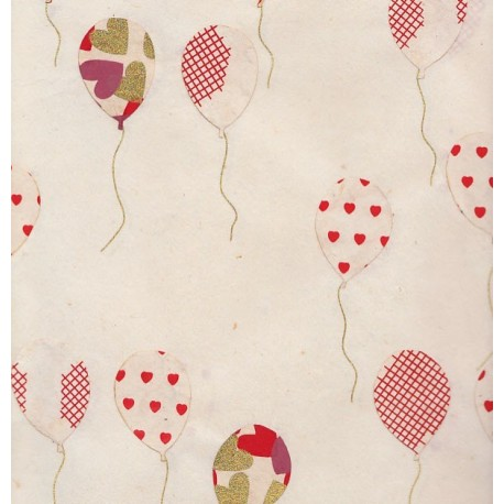 Papier népalais Collage en ballons or