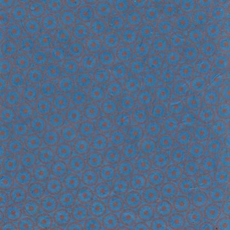 Papier népalais Mirettes bleu