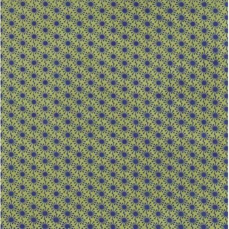 Papier népalais Fleurs d'araignée vert clair