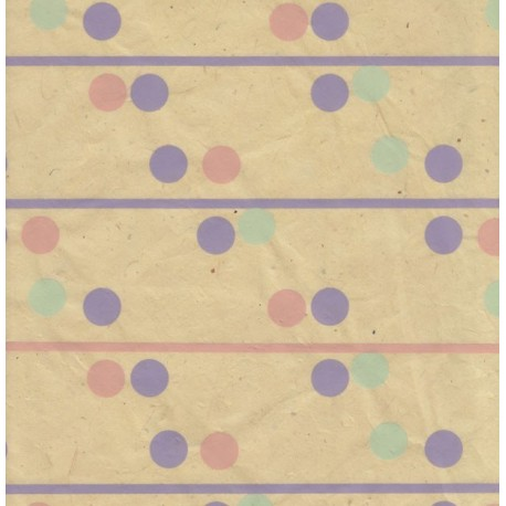 Papier népalais Dominos jaune