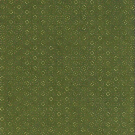 Papier népalais Fleurs en corolles vert