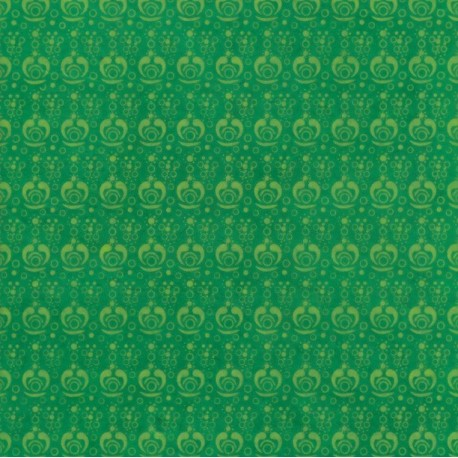 Papier népalais Artifices vert