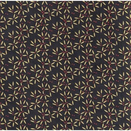 Papier népalais Star flower noir