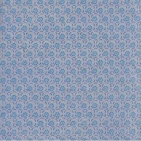 Papier népalais Fleurs en corolles bleu