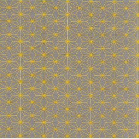 Papier d'Inde Asanoha jaune