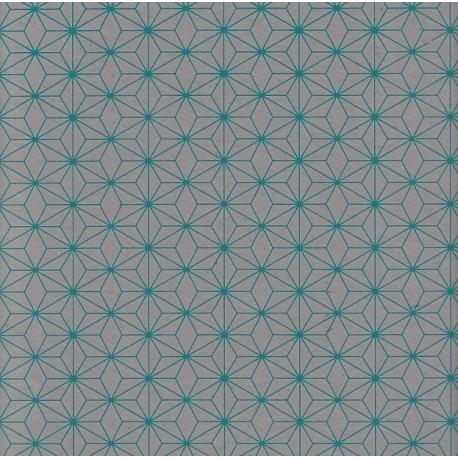 Papier d'Inde Asanoha bleu