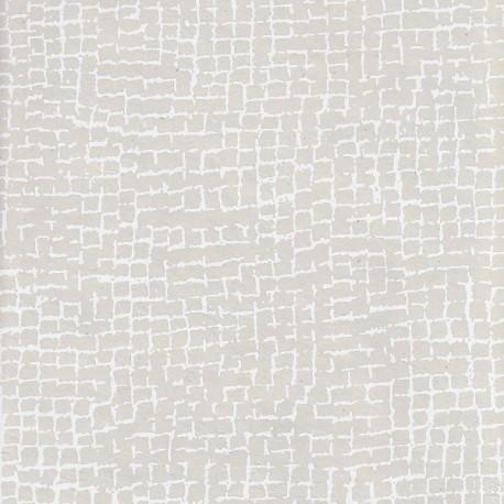 Papier népalais Les tesselles blanc grisé