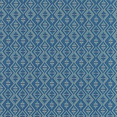 Papier d'Inde Kilim bleu