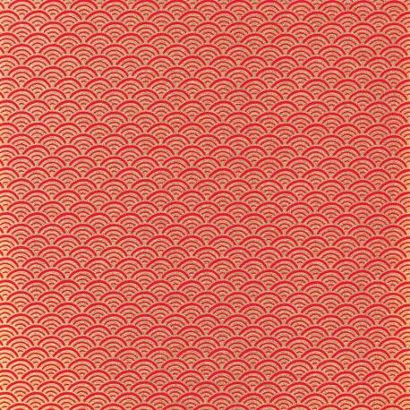 Papier japonais Écailles rouge