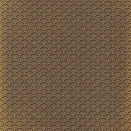Papier japonais Écailles noir