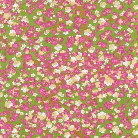 Papier japonais Losanges corail
