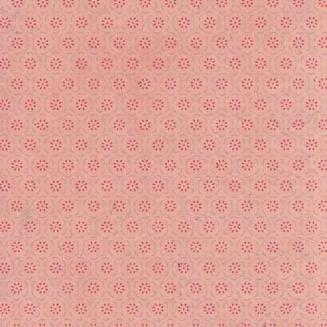 Papier népalais Fleurs en corolles tilleul