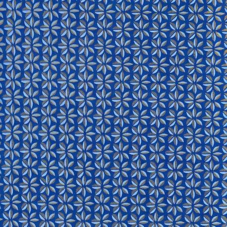 Papier népalais Éoliennes bleu