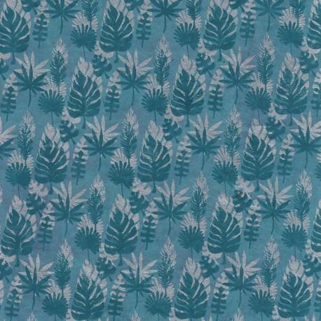 Papier népalais Quadrillage floral