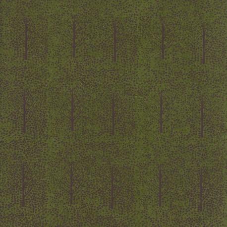 Papier népalais Mini arbres vert
