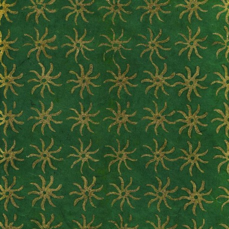 Papier népalais Soleil vert