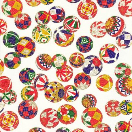 Papier japonais Boules dorées
