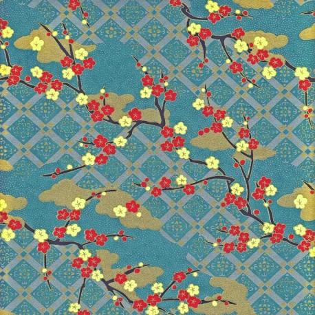 Papier japonais Treillage floral