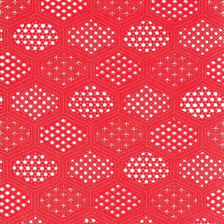 Papier japonais Alvéoles rouge