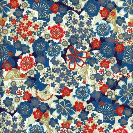 Papier japonais Cocardes fleuries