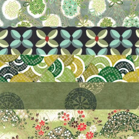 Kit papiers japonais vert