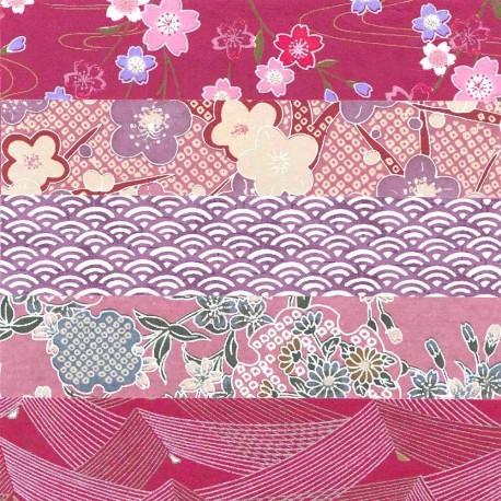 Kit papiers japonais prune