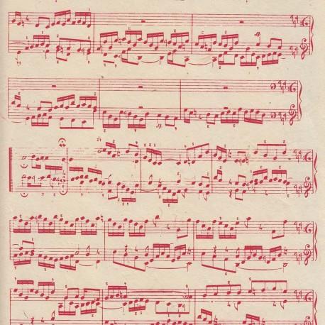 Papier népalais Sonate rouge