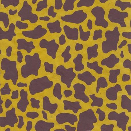 Papier népalais Girafe jaune