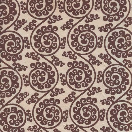 Papier népalais Celte beige